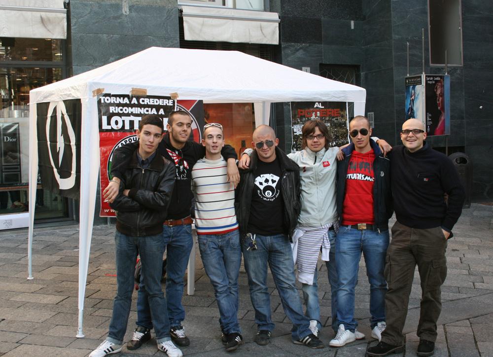 I ragazzi di CasaPound ad Aosta